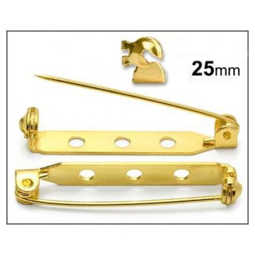 Brožový můstek 25mm/2ks zlato