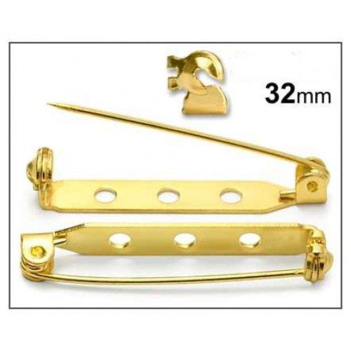 Brožový můstek 32mm/2ks zlato