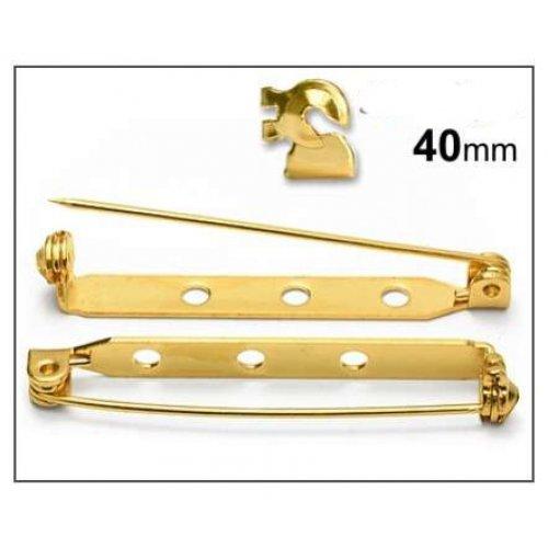 Brožový můstek 40mm/2ks zlato