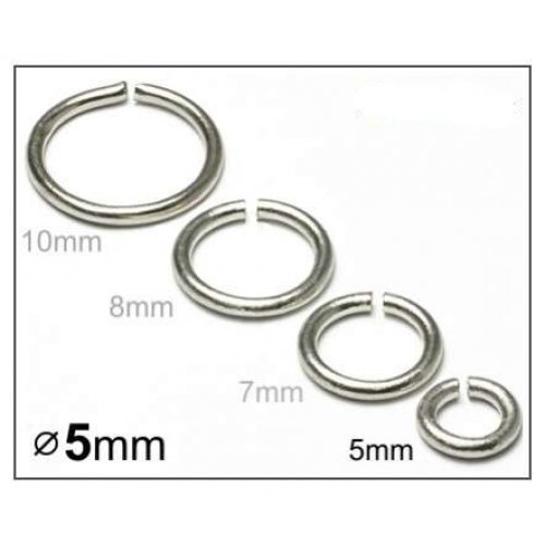 Spojovací kroužek 5mm/20ks platina