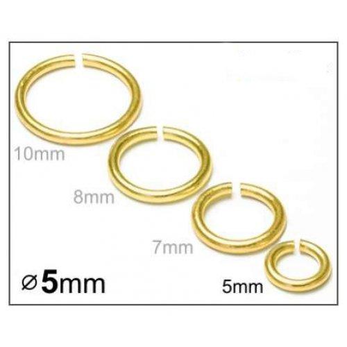 Spojovací kroužek 5mm/20ks zlato