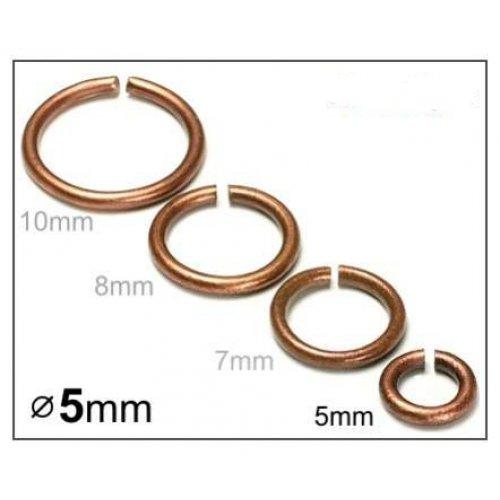 Spojovací kroužek 5mm/20ks měď