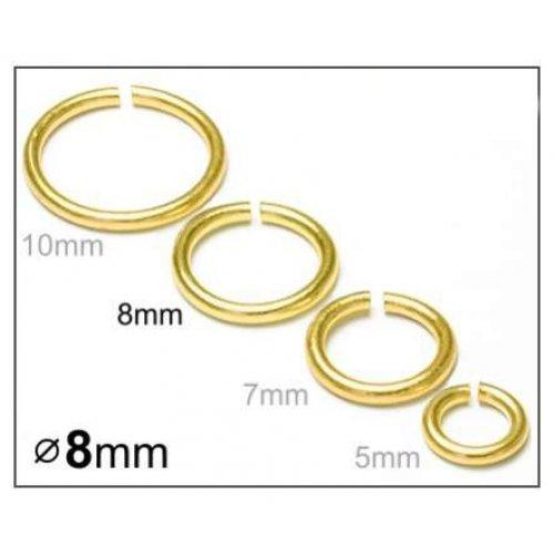 Spojovací kroužek 8mm/10ks zlato