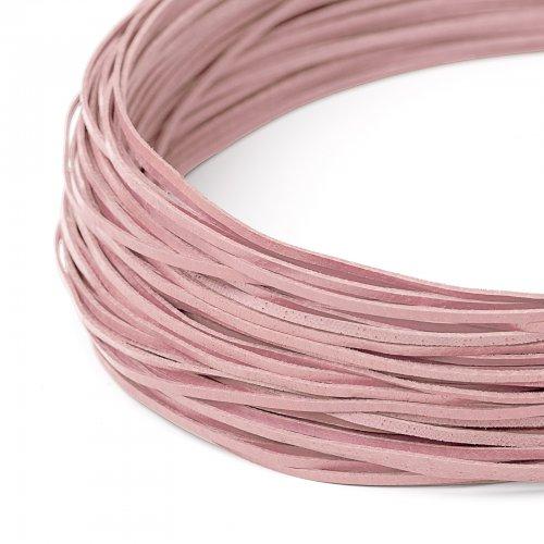 Kožený řemínek plochý 120 cm růžový