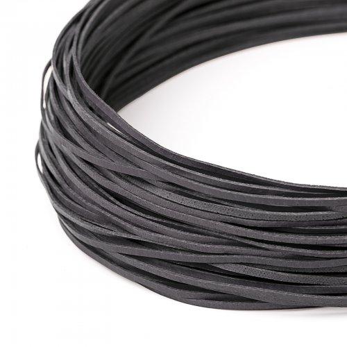 Kožený řemínek plochý 120 cm šedý
