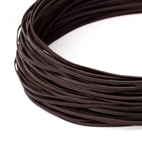 Kožený řemínek plochý 120 cm tmavě hnědý