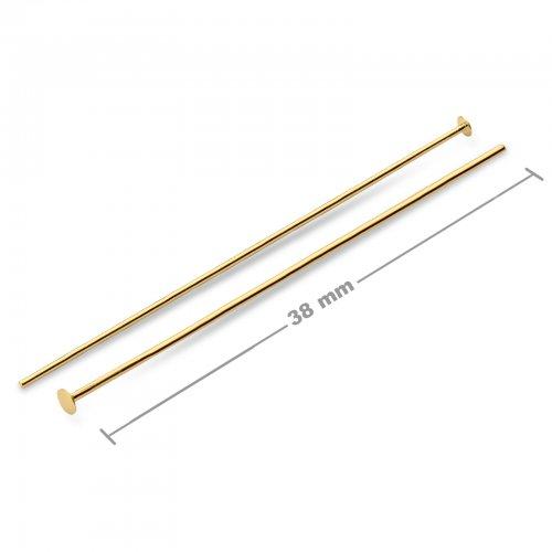 Ketlovací nýtové jehly 38mm zlaté  10 ks v balení