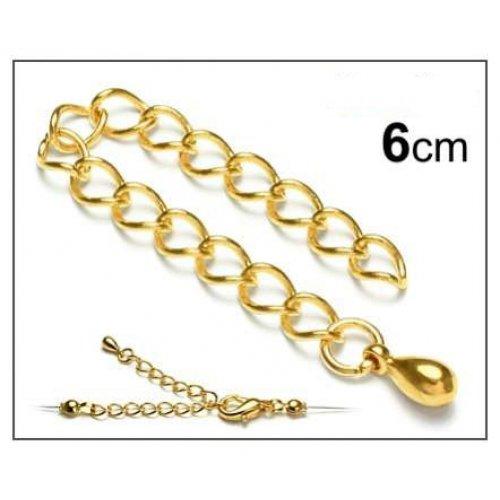 Adjustový řetízek 3ks zlato