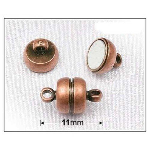 Magnet. zapínání soudek 11x7mm/3ks měď