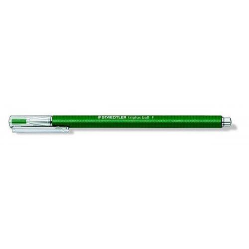 """Kuličkové pero """"Triplus F"""", zelená, 0,3 mm, s uzávěrem, STAEDTLER"""