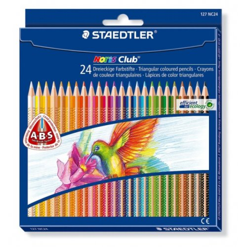"Barevné pastelky ""Noris Club"", sada, 24 barev, trojhranná, STAEDTLER"
