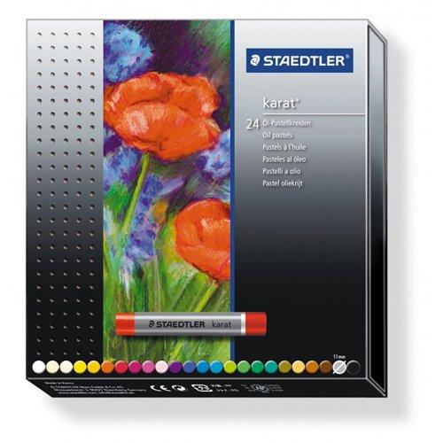 Sada Křída pastelová měkká KARAT 24 barev STAEDTLER