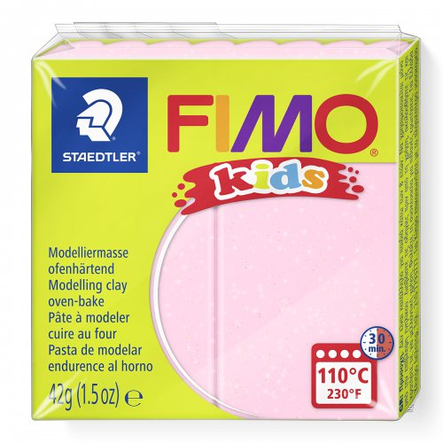 Fimo kids 42g - dětská modelovací hmota perleťová růžová