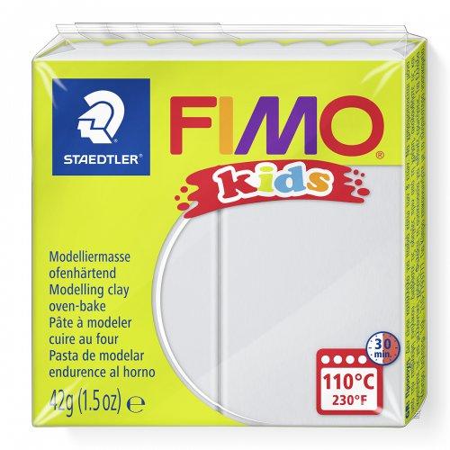 Fimo kids 42g - dětská modelovací hmota světle šedá