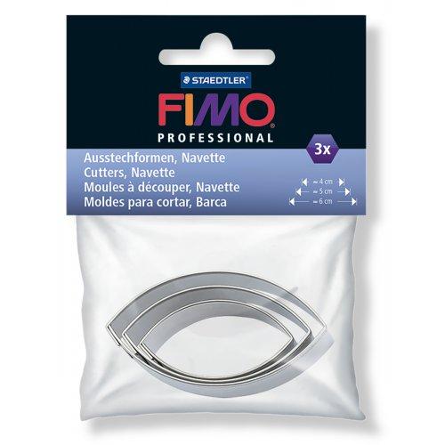 FIMO vykrajovátka - Špičatý ovál 3 velikosti