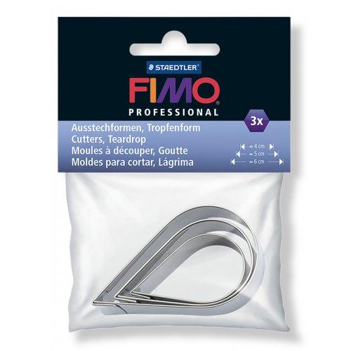FIMO vykrajovátka - Slza / Kapka 3 velikosti
