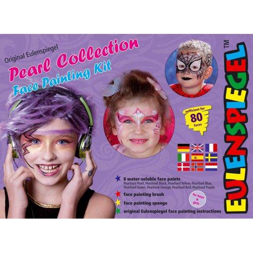 Sada barvy na obličej 8 ks v paletě - PERLEŤOVÉ BARVY
