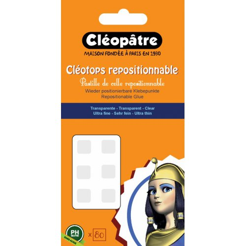 Lepící tečky Cléotops odlepitelné 80 ks