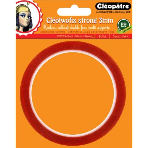 Lepící oboustranná páska CLEOTWOFIX 3mm x 10m