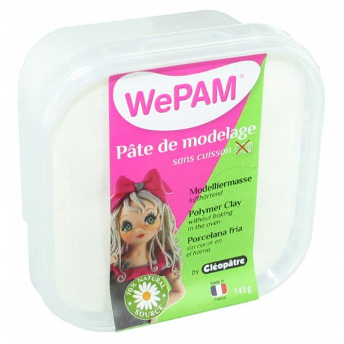 Samotvrdnoucí polymerová modelovací hmota WePAM 145g - Bílá