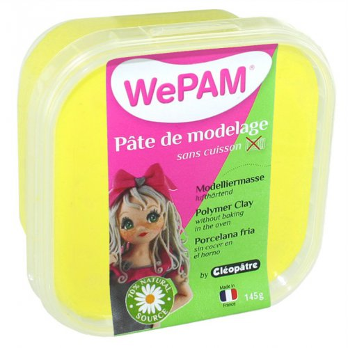 Samotvrdnoucí polymerová modelovací hmota WePAM 145g - Žlutá