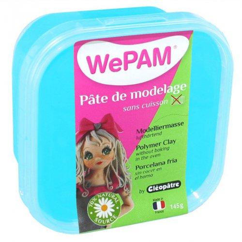 Samotvrdnoucí polymerová modelovací hmota WePAM 145g-Perleť. Tyrkysová