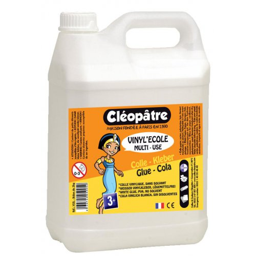 Bílé PVA lepidlo CLEOPATRE VINYL'ECOLE 5 Kg