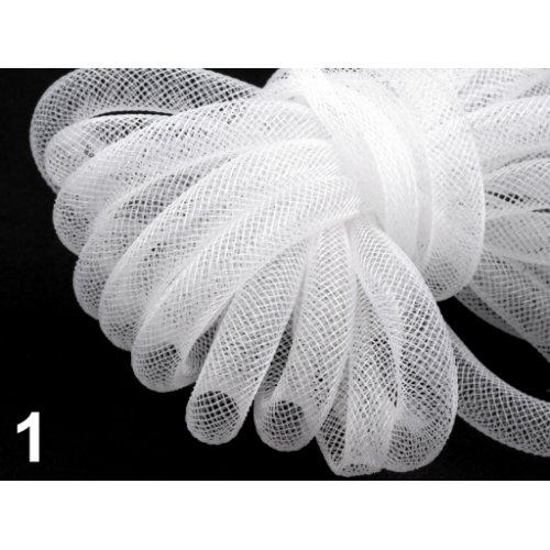 Modistická dutinka 8 mm - 1 bílá (1m)