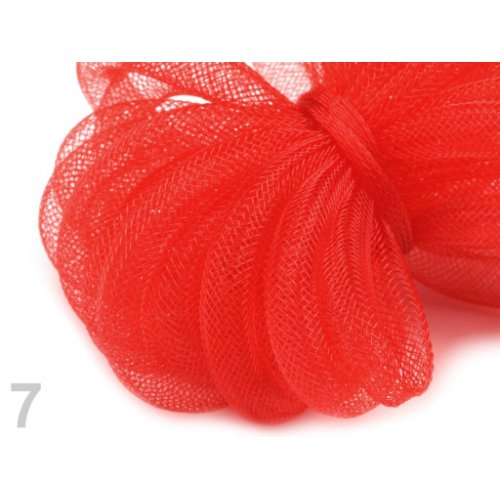 Modistická dutinka 8 mm - 7 červená sv. (1m)