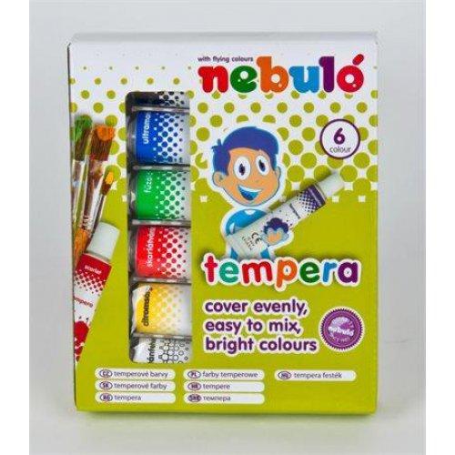 Temperové barvy, 6ks, NEBULO