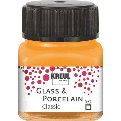 Barva na sklo a porcelán KREUL classic 20 ml ORANŽOVÁ