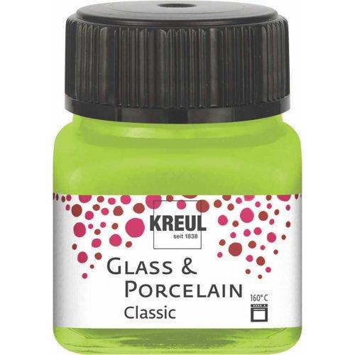 Barva na sklo a porcelán KREUL classic 20 ml MÁJOVÁ ZELENÁ