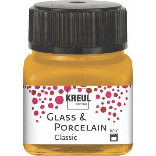 Barva na sklo a porcelán KREUL classic metalická zlatá 20 ml