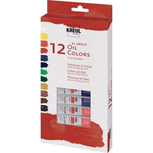 Sada Olejové barvy EL GRECO, v tubách, 12 barev