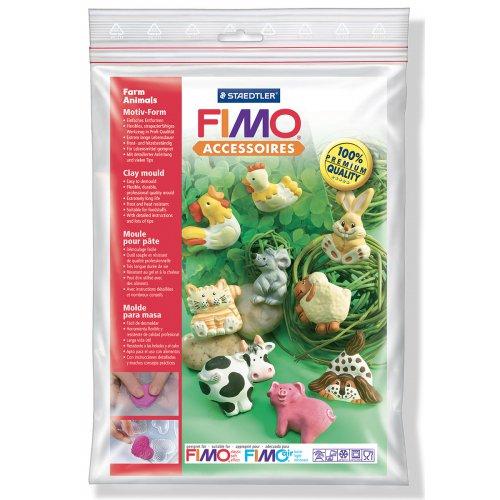 Fimo Silikonová forma - Zvířátka z farmy Farm animals