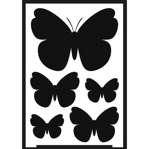 Šablona samolepicí flexibilní, motýlci, A5 - negativ
