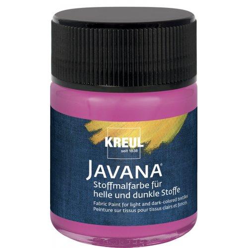 Barva na světlý a tmavý textil JAVANA 50 ml magenta