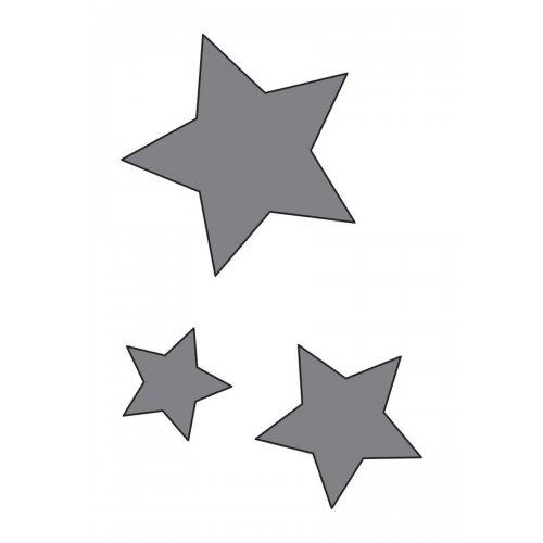 Samolepicí šablona 7 x 10 cm Hvězdy