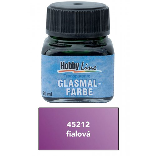 Barva na sklo HOBBY LINE transparentní 20 ml fialová