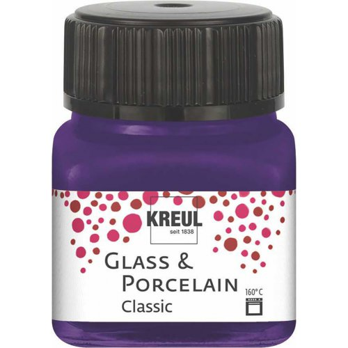 Barva na sklo a porcelán KREUL classic 20 ml FIALOVÁ