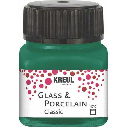 Barva na sklo a porcelán KREUL classic tmavě zelená 20 ml