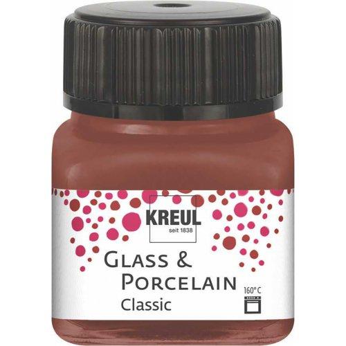 Barva na sklo a porcelán KREUL classic 20 ml KOŇAKOVÁ