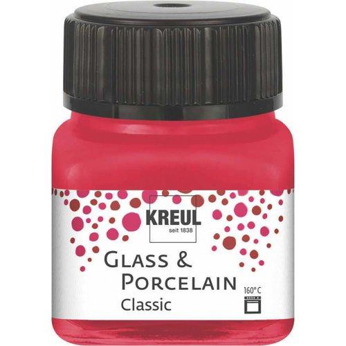 Barva na sklo a porcelán KREUL classic 20 ml KARMÍNOVÁ
