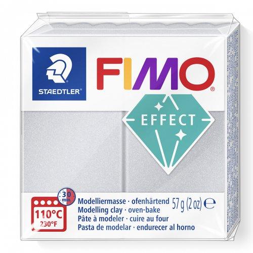 FIMO efekt stříbrná perleťová 57g