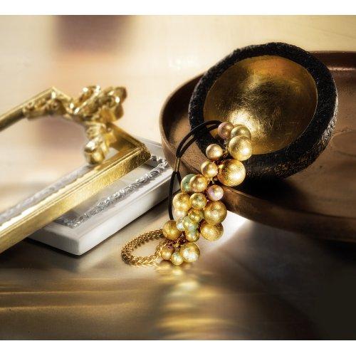 FIMO kovové plátky zlatý, 10 ks - 8781-image2.jpg