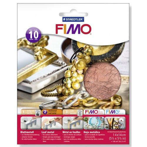 FIMO kovové plátky měděný, 10 ks