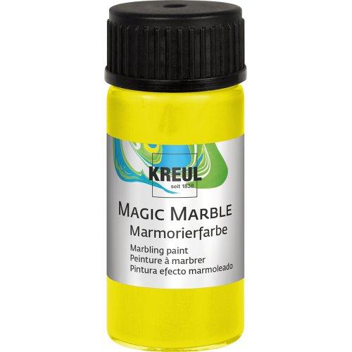 Mramorovací barva Magic Marble 20 ml neonová žlutá
