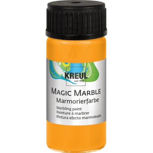 Mramorovací barva Magic Marble 20 ml neonová oranžová
