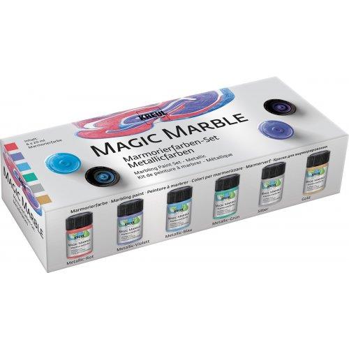 Sada Mramorovací barva Magic Marble metalická 6 x 20 ml