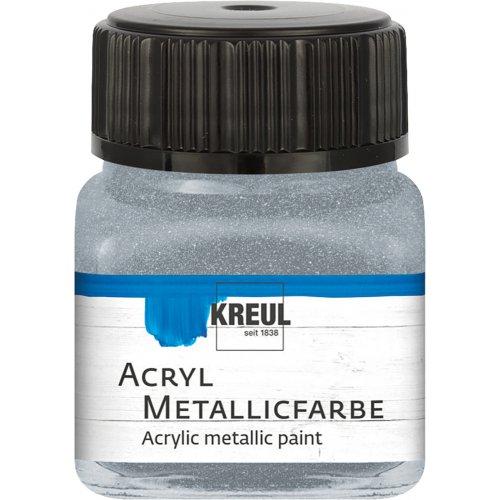Akrylová barva metalická KREUL 20 ml stříbrná